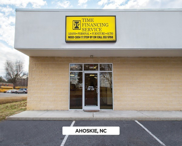 Exterior of Time Financing Service in Ahoskie, NC