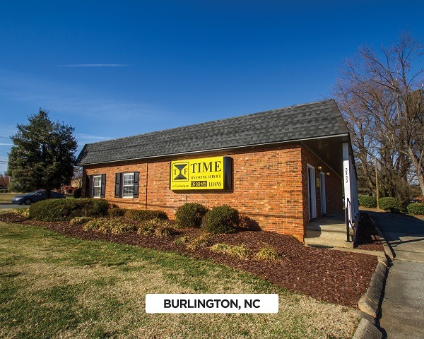 Exterior of Time Financing Service office in Burlington, NC