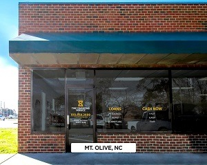 Exterior of Time Financing Service office in Mt. Olive, NC