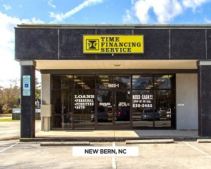 Exterior of Time Financing Service office in New Bern, NC
