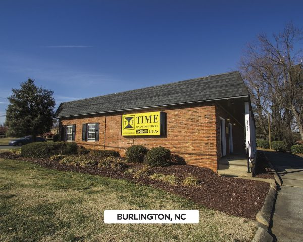 Exterior of Time Financing Service in Burlington, NC