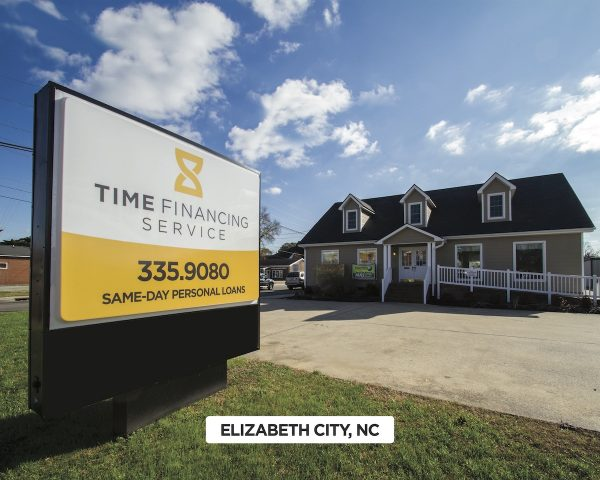 Exterior of Time Financing Service in Elizabeth City, NC