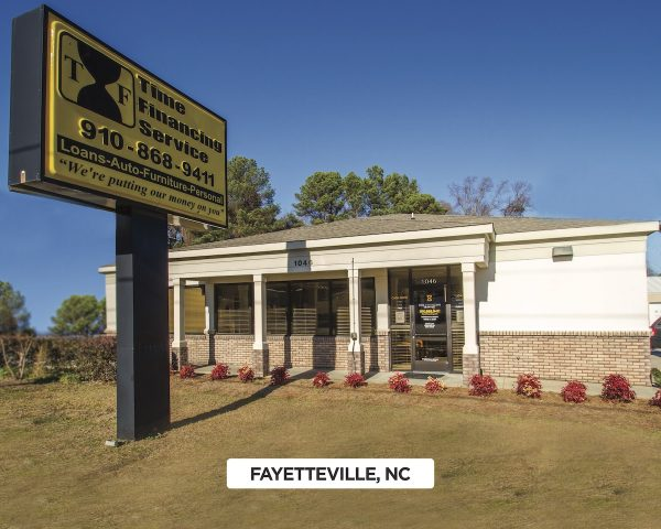 Exterior of Time Financing Service in Fayetteville, NC