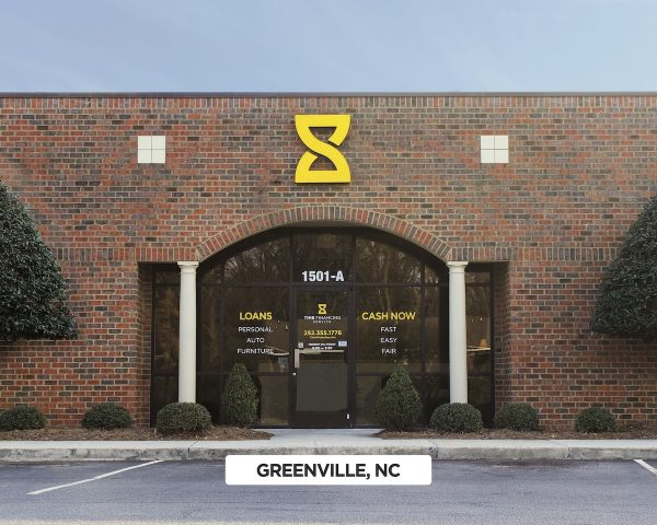 Exterior of Time Financing Service in Greenville, NC