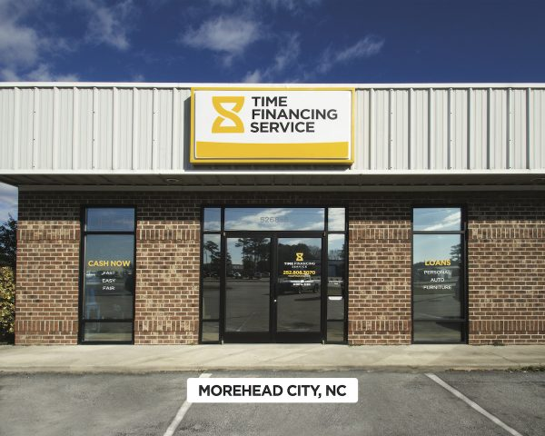 Exterior of Time Financing Service in Morehead City, NC