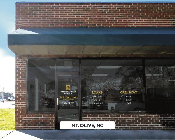 Exterior of Time Financing Service in Mt. Olive, NC