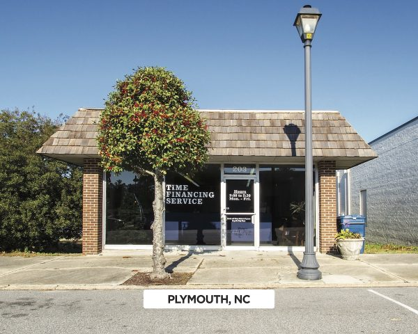 Exterior of Time Financing Service in Plymouth, NC