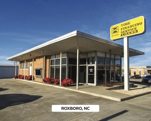 Exterior of Time Financing Service in Roxboro, NC