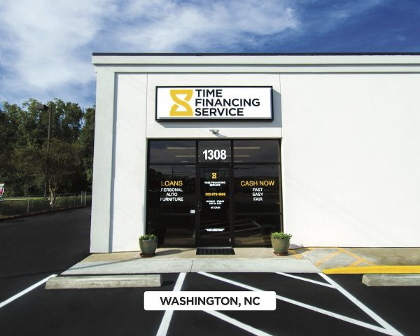 Exterior of Time Financing Service in Washington, NC