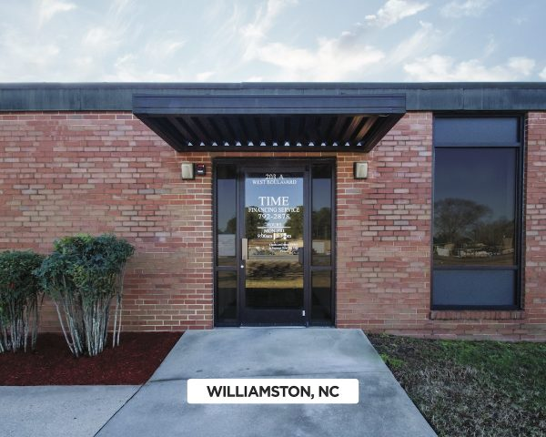 Exterior of Time Financing Service in Williamston, NC